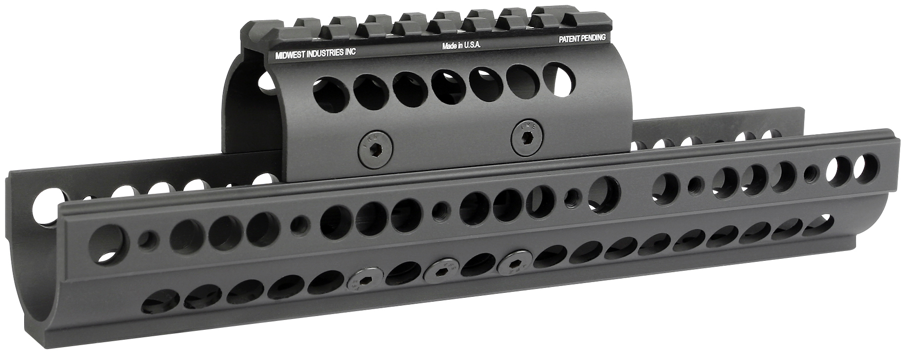 Midwest Industries AK47/74  SS Ext Quad Rail - Black